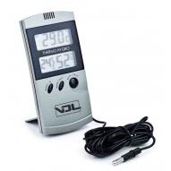 Termohigrómetro digital GRIS max-min con sonda VDL