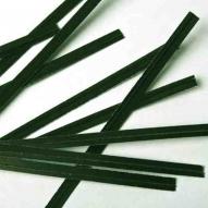Alambre plastificado verde tiras