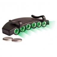 Linterna Visera Active Eye Luz verde 6 LED, para gorra