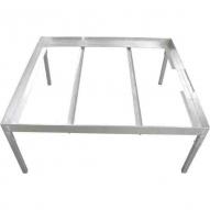 Estructura metalica para mesa de PVC