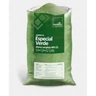 Fertilizante ESPECIAL VERDE granulado NPK 12-12-12+20S, saco de 25 kg