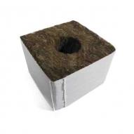Lana de roca BASIC Taco de 7,5X7,5X6,5cm con 1 agujero O28mm