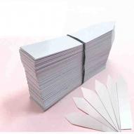 Etiquetas Clavar PVC 8x1,3 cm paquete 500 uds