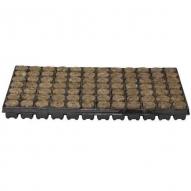 Bandeja con lana de roca (plugs O28mm) 126 alveolos, poliestireno